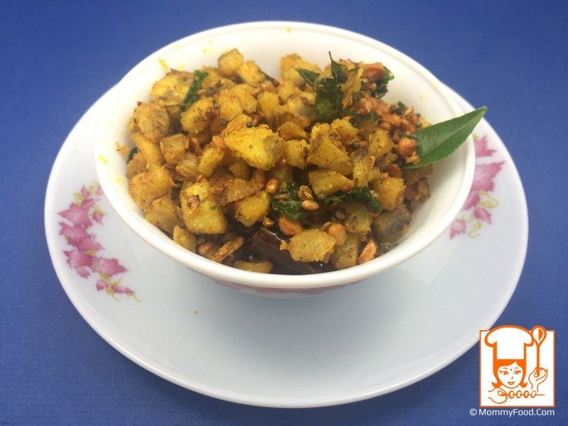 Tasty Aratikaya fry is ready to serve as a side dish with mudda pappu, tomato pappu, palakura pappu and any dal curry.