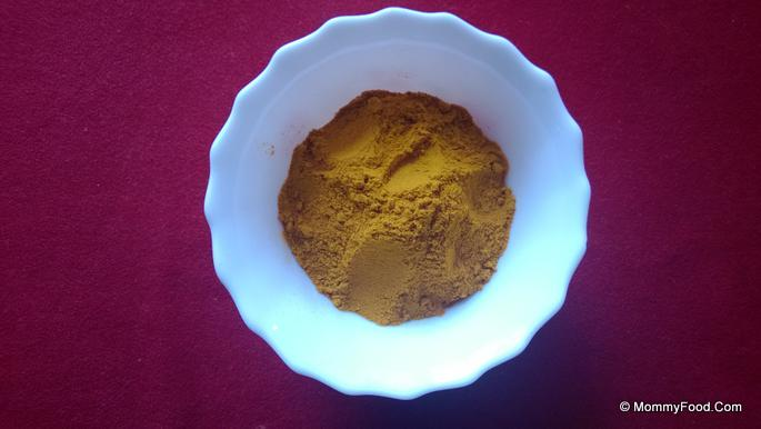 Turmeric powder: 1/4 tbsp