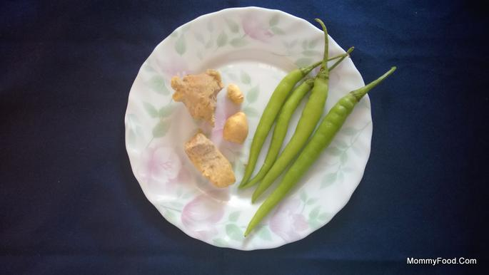Ginger Green Chillies 2