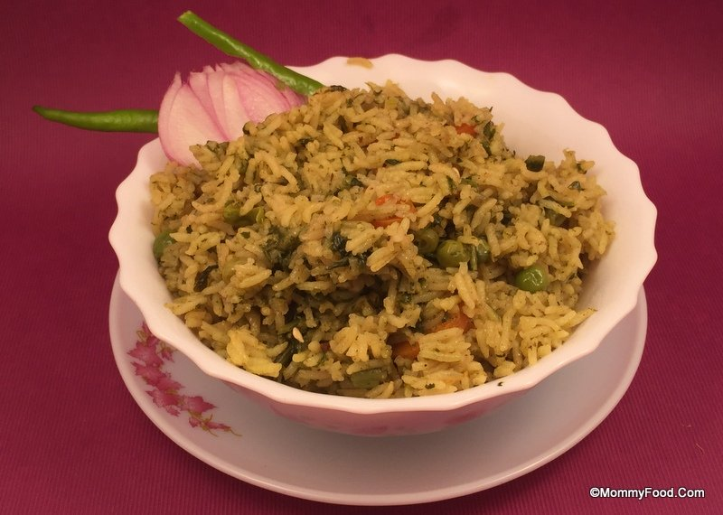 Fenugreek Leaves Rice dish