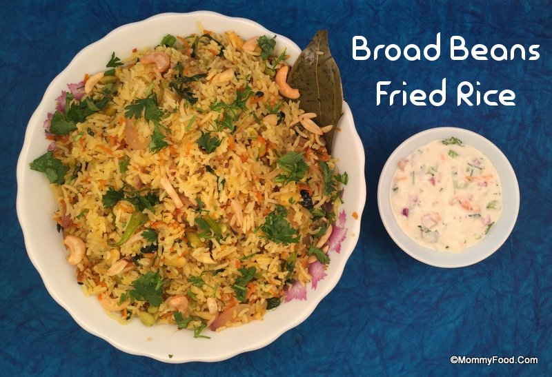 broad beans fried rice
